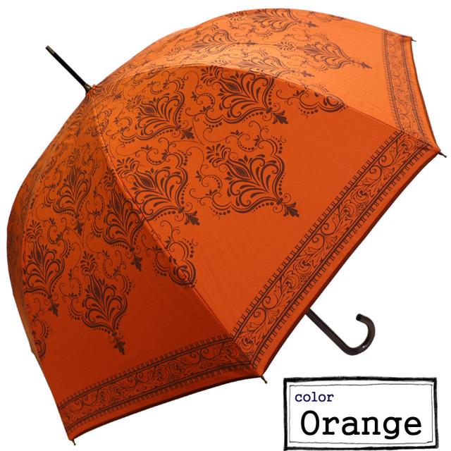 ジャンプ傘★雨晴兼用 バロック柄ジャンプ傘