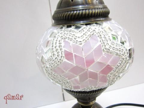 トルコ モザイクランプ ピンク