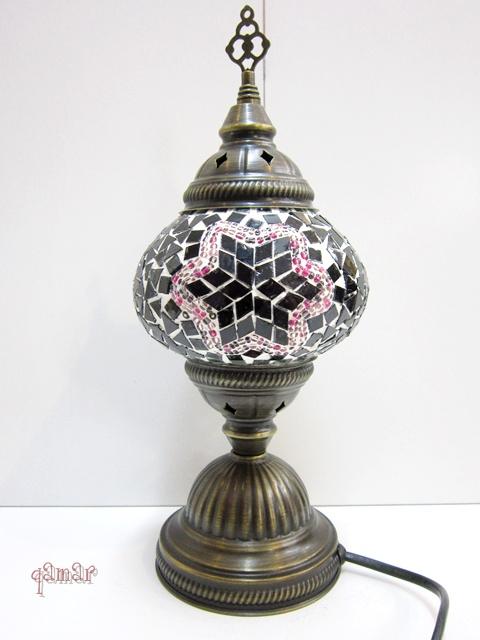 トルコ モザイクランプ パープル