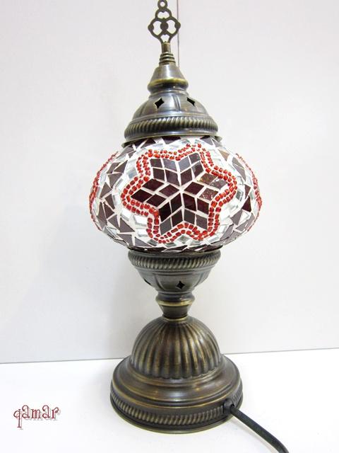 トルコ モザイクランプ レッド