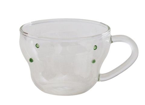 グリーンドットデミタスカップ